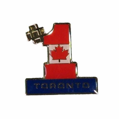 TORONTO #1 CANADA COUNTRY FLAG METAL LAPEL PIN BADGE .. NEW AND IN A PACKAGE