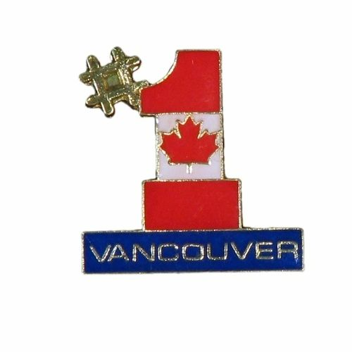 VANCOUVER #1 CANADA COUNTRY FLAG METAL LAPEL PIN BADGE .. NEW AND IN A PACKAGE