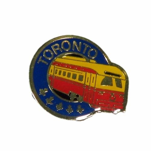 TORONTO STREET CAR METAL LAPEL PIN BADGE .. NEW AND IN A PACKAGE