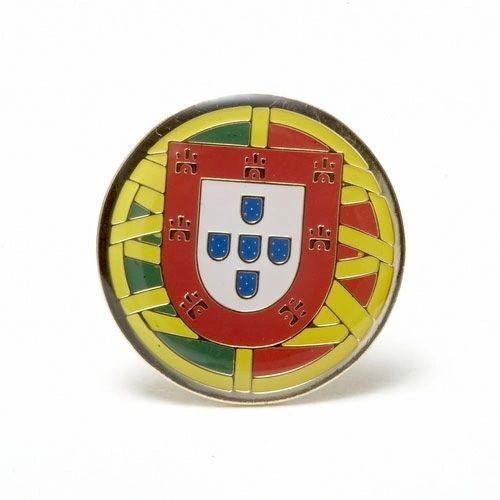 PORTUGAL EMBLEM LAPEL PIN BADGE .. NEW AND IN A PACKAGE