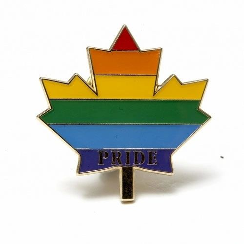"RAINBOW LEAF ""PRIDE"" LAPEL PIN BADGE .. NEW AND IN A PACKAGE"