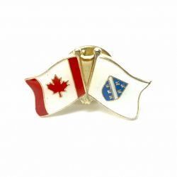 CANADA & BOSNIA - HERZEGOVINA OLD FRIENDSHIP COUNTRY FLAG LAPEL PIN BADGE .. NEW AND IN A PACKAGE