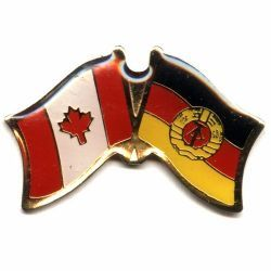 CANADA & GERMANY EAST OLD FRIENDSHIP COUNTRY FLAG LAPEL PIN BADGE .. NEW AND IN A PACKAGE