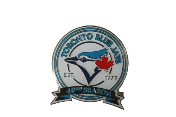 TORONTO BLUE JAYS 40TH SEASON EST. 1977 METAL LAPEL PIN BADGE