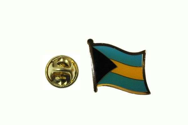 BAHAMAS NATIONAL COUNTRY FLAG METAL LAPEL PIN BADGE .. 3/4 X 3/4 INCH ... NEW