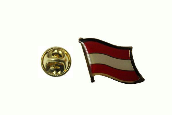 AUSTRIA PLAIN NATIONAL COUNTRY FLAG METAL LAPEL PIN BADGE ... 3/4 X 3/4 INCH .. NEW
