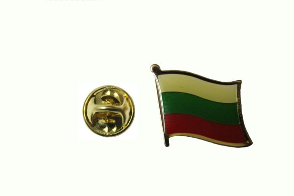 BULGARIA NATIONAL COUNTRY FLAG METAL LAPEL PIN BADGE .. 3/4 X 3/4 INCH ... NEW