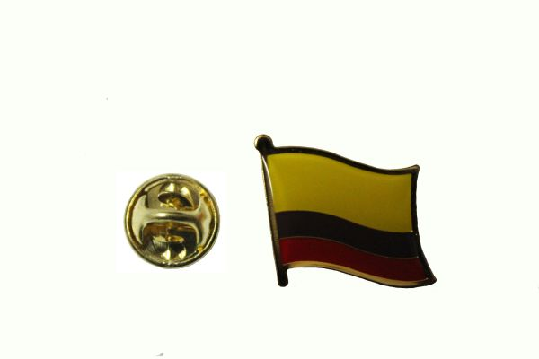 COLOMBIA NATIONAL COUNTRY FLAG METAL LAPEL PIN BADGE ... 3/4 X 3/4 INCH .. NEW