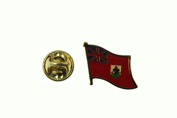 BERMUDA NATIONAL COUNTRY FLAG METAL LAPEL PIN BADGE .. 3/4 X 3/4 INCH ... NEW