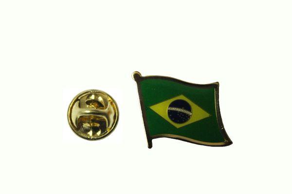 BRASIL - FIFA WORLD CUP SOCCER CBF LOGO LAPEL PIN BADGE .. 3/4 X 3/4 INCH ... NEW