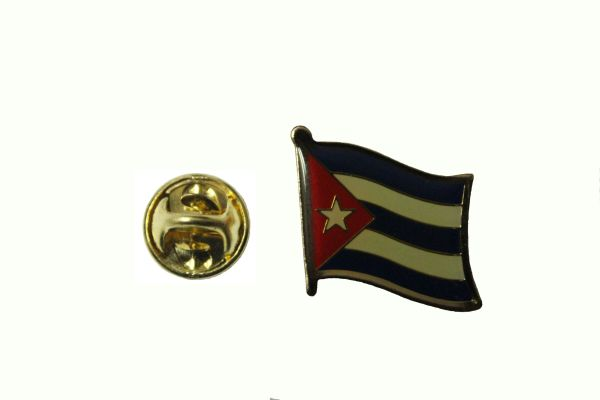 CUBA NATIONAL COUNTRY FLAG METAL LAPEL PIN BADGE .. 3/4 X 3/4 INCH .. NEW