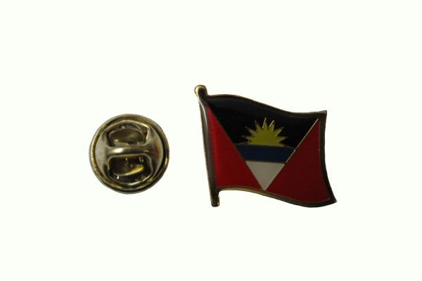 ANTIGUA & BARBUDA NATIONAL COUNTRY FLAG METAL LAPEL PIN BADGE .. 3/4 X 3/4 INCH .. NEW