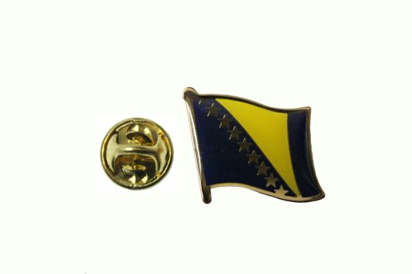 BOSNIA NEW NATIONAL COUNTRY FLAG METAL LAPEL PIN BADGE .. 3/4 X 3/4 INCH .. NEW