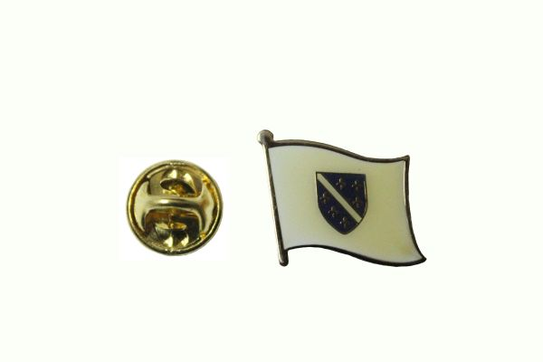 BOSNIA OLD NATIONAL COUNTRY FLAG METAL LAPEL PIN BADGE ... 3/4 X 3/4 INCH ... NEW