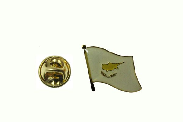 CYPRUS NATIONAL COUNTRY FLAG METAL LAPEL PIN BADGE ... 3/4 X 3/4 INCH ... NEW