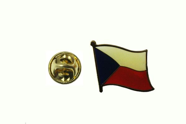 CZECH REPUBLIC NATIONAL COUNTRY FLAG METAL LAPEL PIN BADGE .. 3/4 X 3/4 INCH .. NEW