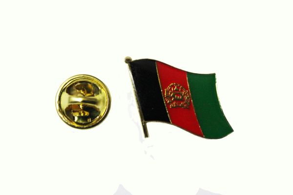 AFGHANISTAN NATIONAL COUNTRY FLAG SMALL METAL LAPEL PIN BADGE ... 3/4 X 3/4 INCH .. NEW