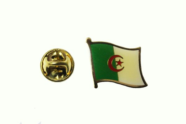 ALGERIA NATIONAL COUNTRY FLAG METAL LAPEL PIN BADGE .. 3/4 X 3/4 INCH .. NEW