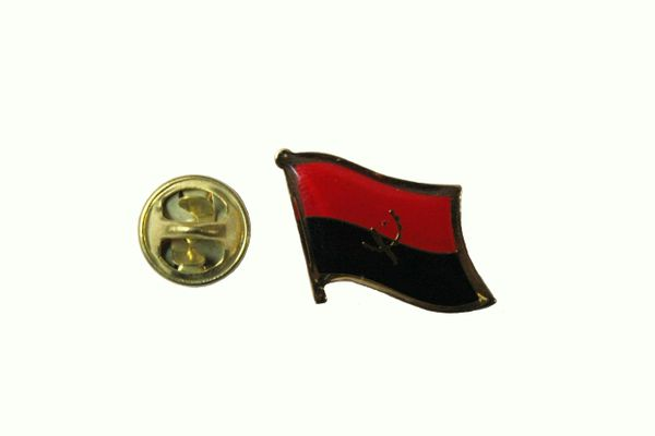 ANGOLA NATIONAL COUNTRY FLAG METAL LAPEL PIN BADGE .... 3/4 X 3/4 INCH ... NEW