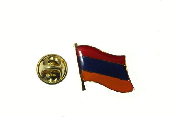ARMENIA NATIONAL COUNTRY FLAG METAL LAPEL PIN BADGE ... 3/4 X 3/4 INCH ... NEW