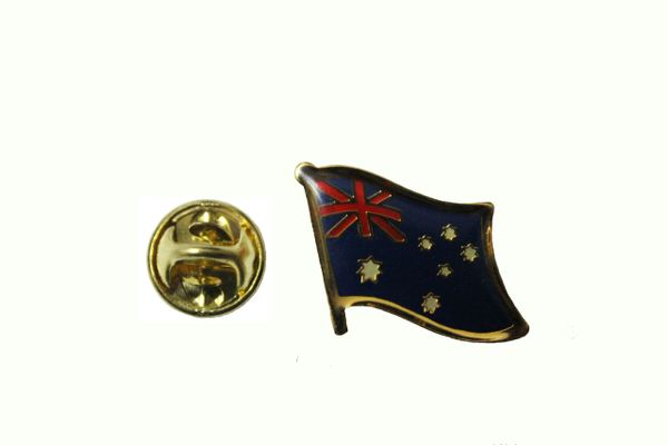 AUSTRALIA NATIONAL COUNTRY FLAG METAL LAPEL PIN BADGE ... 3/4 X 3/4 INCH ... NEW