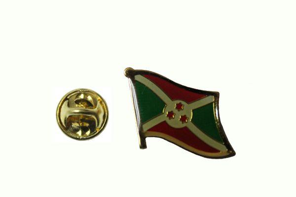 BURUNDI NATIONAL COUNTRY FLAG METAL LAPEL PIN BADGE .... 3/4 X 3/4 INCH .. NEW