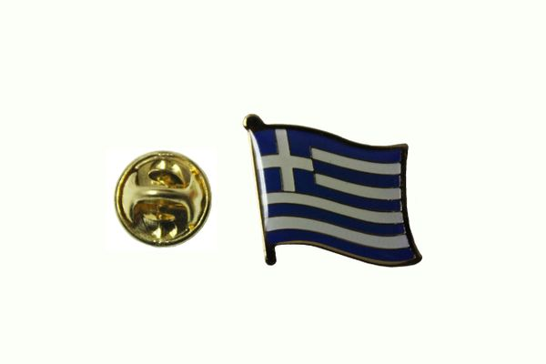 GREECE HELLAS NATIONAL COUNTRY FLAG METAL LAPEL PIN BADGE .. 3/4 X 3/4 INCH .. NEW
