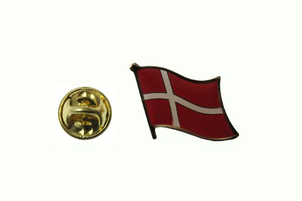 DENMARK NATIONAL COUNTRY FLAG METAL LAPEL PIN BADGE .. 3/4 X 3/4 INCH .. NEW