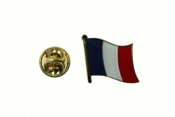 FRANCE NATIONAL COUNTRY FLAG METAL LAPEL PIN BADGE .. 3/4 X 3/4 INCH .. NEW