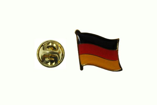 GERMANY DEUTSCHLAND PLAIN NATIONAL COUNTRY FLAG METAL LAPEL PIN BADGE ... 3/4 X 3/4 INCH .. NEW