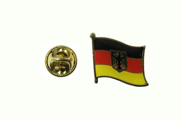 GERMANY DEUTSCHLAND WITH EAGLE NATIONAL COUNTRY FLAG METAL LAPEL PIN BADGE .. 3/4 X 3/4 INCH .. NEW