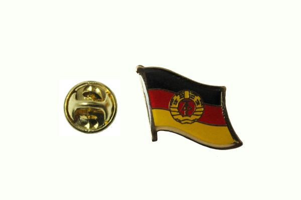 OLD EAST GERMANY DEUTSCHLAND COUNTRY FLAG METAL LAPEL PIN BADGE .. 3/4 X 3/4 INCH .. NEW