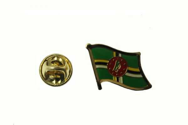 DOMINICA NATIONAL COUNTRY FLAG METAL LAPEL PIN BADGE .. 3/4 X 3/4 INCH .. NEW