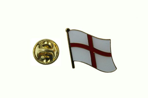 ENGLAND ST GEORGE CROSS NATIONAL COUNTRY FLAG METAL LAPEL PIN BADGE .. 3/4 X 3/4 INCH .. NEW