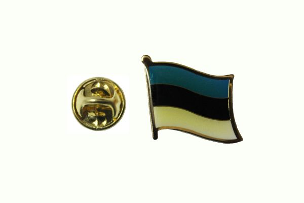 ESTONIA NATIONAL COUNTRY FLAG METAL LAPEL PIN BADGE ... 3/4 X 3/4 INCH .. NEW