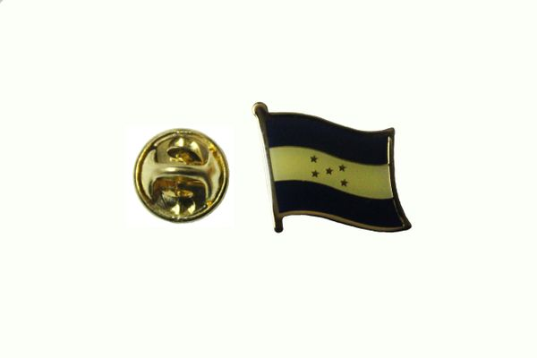 HONDURAS NATIONAL COUNTRY FLAG METAL LAPEL PIN BADGE .. 3/4 X 3/4 INCH .. NEW