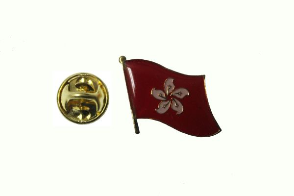 HONG KONG NEW NATIONAL COUNTRY FLAG METAL LAPEL PIN BADGE .. 3/4 X 3/4 INCH .. NEW