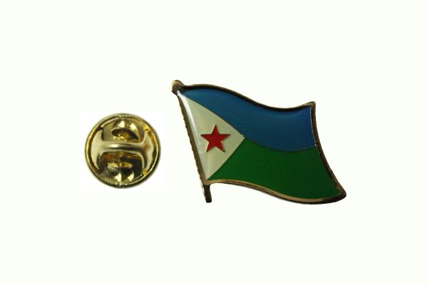 DJIBOUTI NATIONAL COUNTRY FLAG METAL LAPEL PIN BADGE .. 3/4 X 3/4 INCH .. NEW