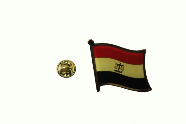 EGYPT NATIONAL COUNTRY FLAG METAL LAPEL PIN BADGE .. 3/4 X 3/4 INCH .. NEW