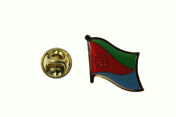 ERITREA NATIONAL COUNTRY FLAG METAL LAPEL PIN BADGE ... 3/4 X 3/4 INCH .. NEW