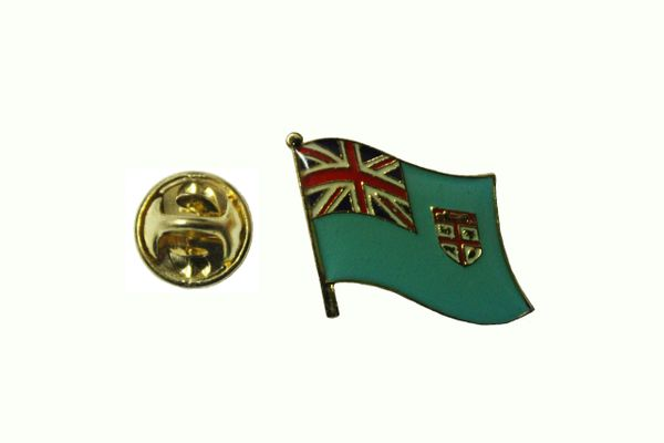 FIJI NATIONAL COUNTRY FLAG METAL LAPEL PIN BADGE .. 3/4 X 3/4 INCH .. NEW