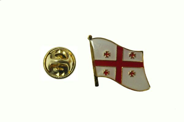 GEORGIA NATIONAL COUNTRY FLAG METAL LAPEL PIN BADGE ... 3/4 X 3/4 INCH ... NEW