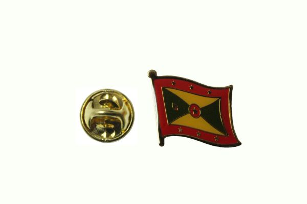 GRENADA NATIONAL COUNTRY FLAG METAL LAPEL PIN BADGE .. 3/4 X 3/4 INCH .. NEW