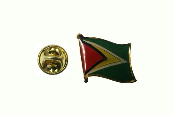 GUYANA NATIONAL COUNTRY FLAG METAL LAPEL PIN BADGE ... 3/4 X 3/4 INCH .. NEW