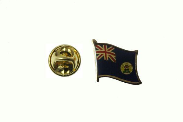 HONG KONG OLD NATIONAL COUNTRY FLAG METAL LAPEL PIN BADGE .. 3/4 X 3/4 INCH .. NEW