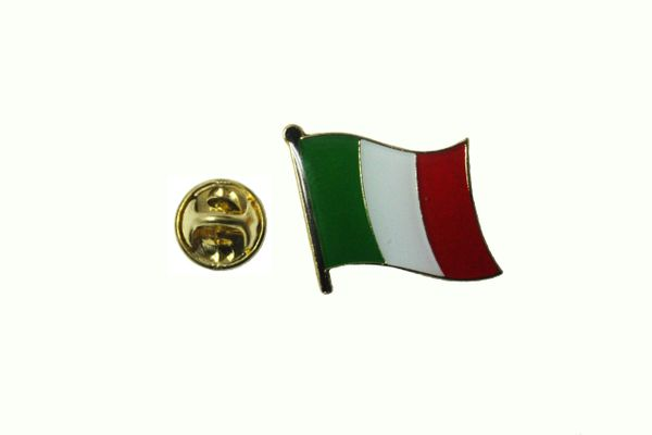 ITALY ITALIA NATIONAL COUNTRY FLAG METAL LAPEL PIN BADGE ... 3/4 X 3/4 INCH .. NEW