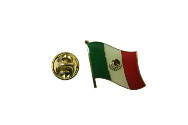MEXICO NATIONAL COUNTRY FLAG METAL PIN BADGE .. 3/4 X 3/4 INCH .. NEW