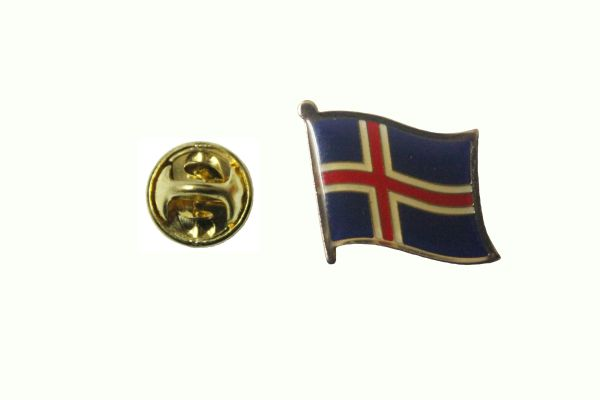 ICELAND NATIONAL COUNTRY FLAG METAL LAPEL PIN BADGE .. 3/4 X 3/4 INCH .. NEW
