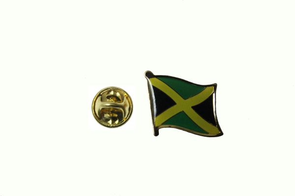 JAMAICA NATIONAL COUNTRY FLAG METAL LAPEL PIN BADGE .. 3/4 X 3/4 INCH .. NEW