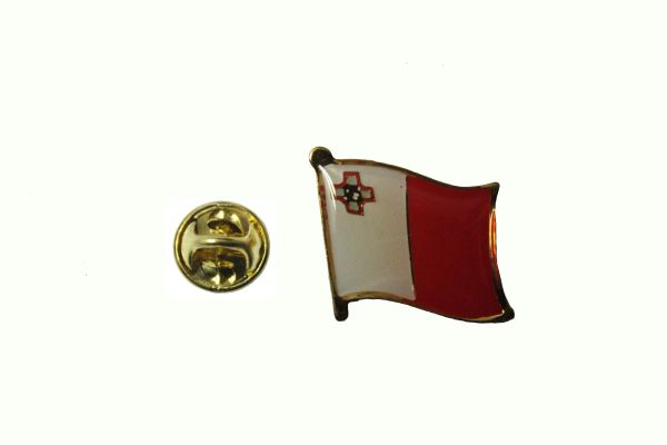 MALTA NATIONAL COUNTRY FLAG METAL LAPEL PIN BADGE . 3/4 X 3/4 INCH .. NEW
